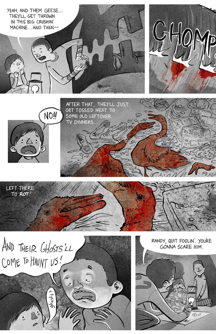Ryan Andrews, Our Bloodstained Roof, garbage dump, comics