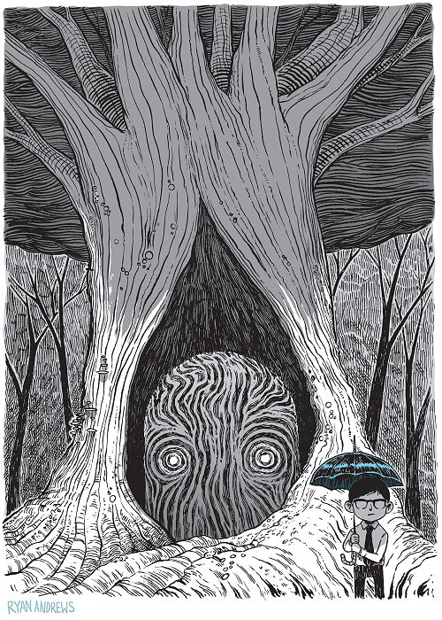 Ryan Andrews, Nothing is Forgotten, illustration, postcard