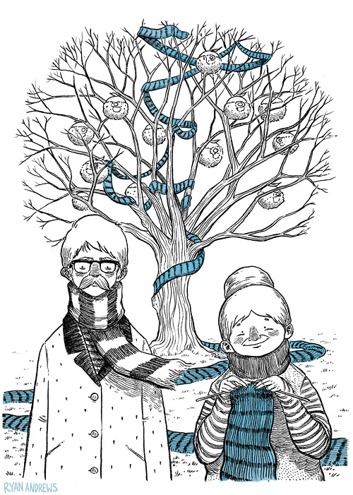 Ryan Andrews, Sarah and the Seed, illustration, postcard